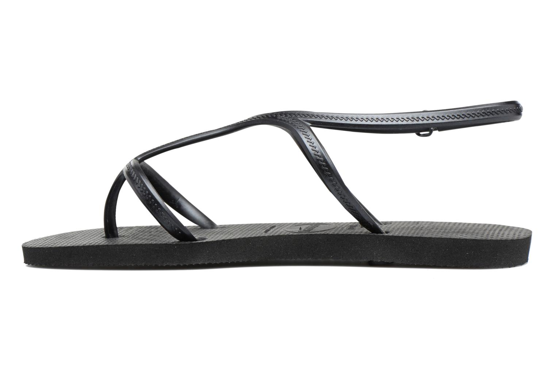Sandals Havaianas Allure Black front view