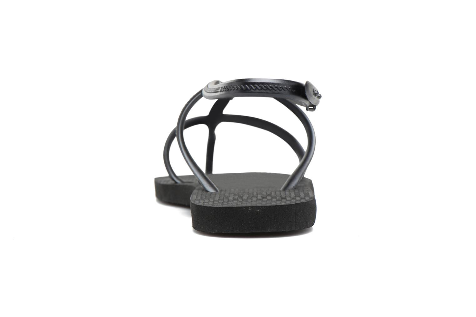 Flip flops Havaianas Allure Black view from the right