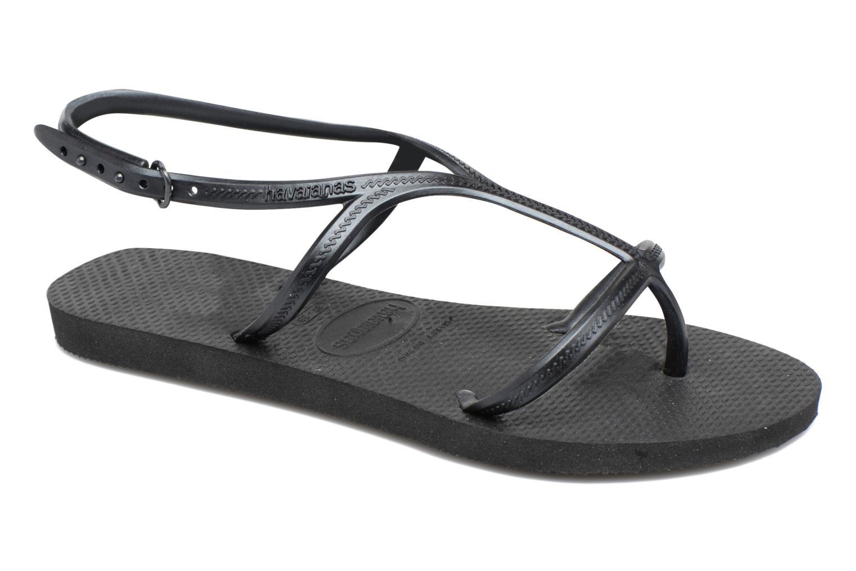 Flip flops Havaianas Allure Black detailed view/ Pair view