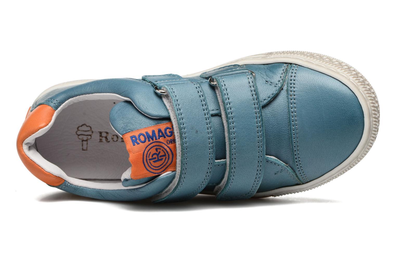 Baskets Romagnoli Claudio Bleu vue gauche