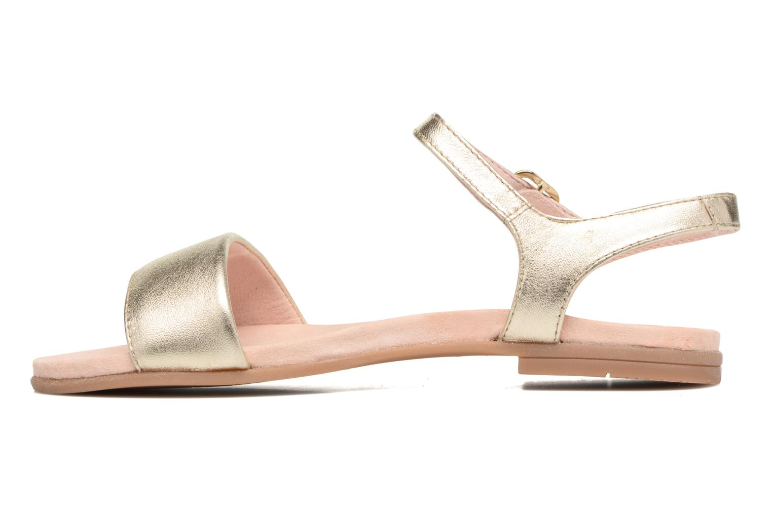 Sandals Unisa Laryn Bronze and Gold front view