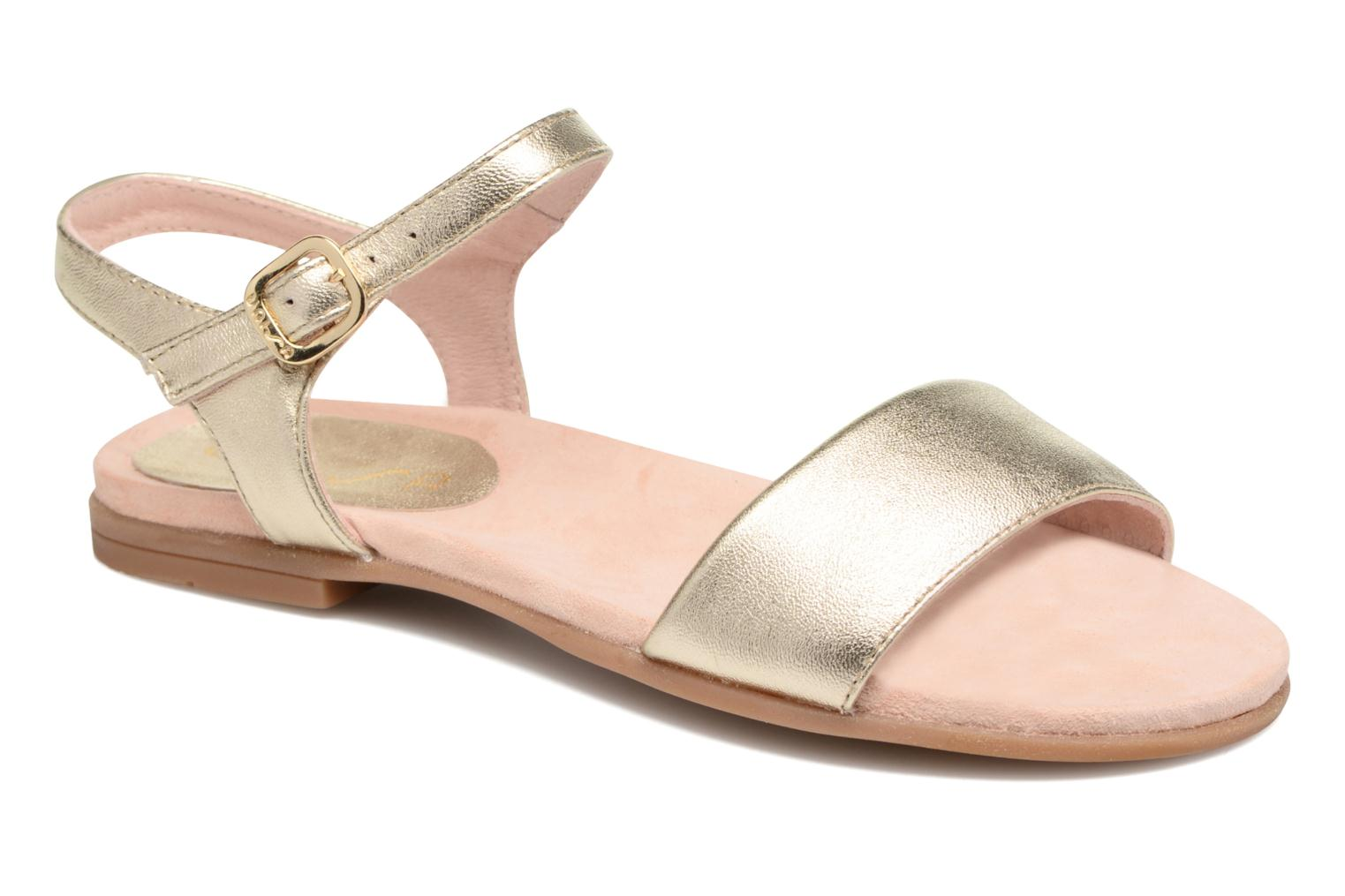 Sandals Unisa Laryn Bronze and Gold detailed view/ Pair view
