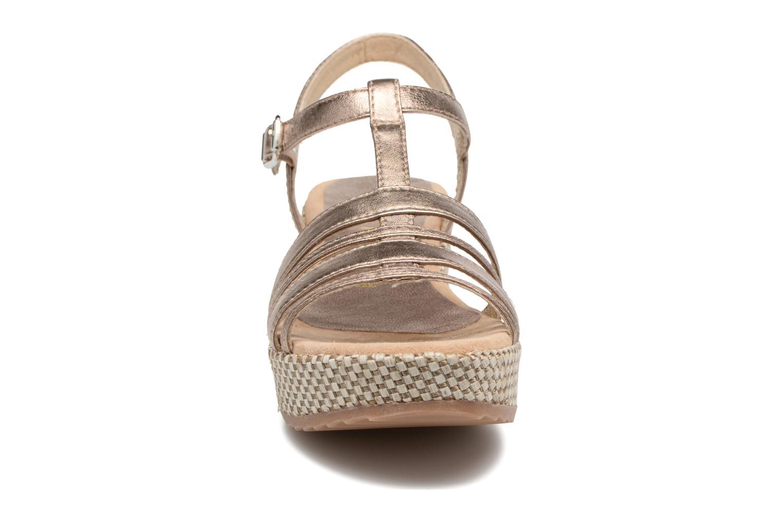 Sandales et nu-pieds Unisa Ticor Or et bronze vue portées chaussures