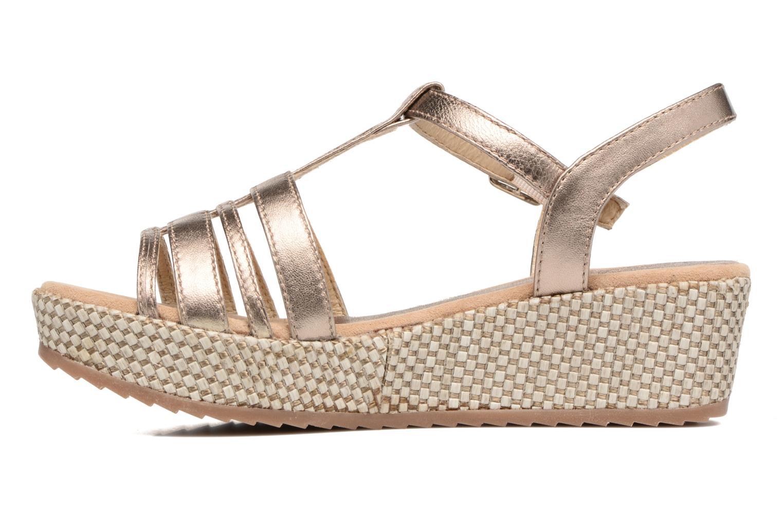 Sandales et nu-pieds Unisa Ticor Or et bronze vue face