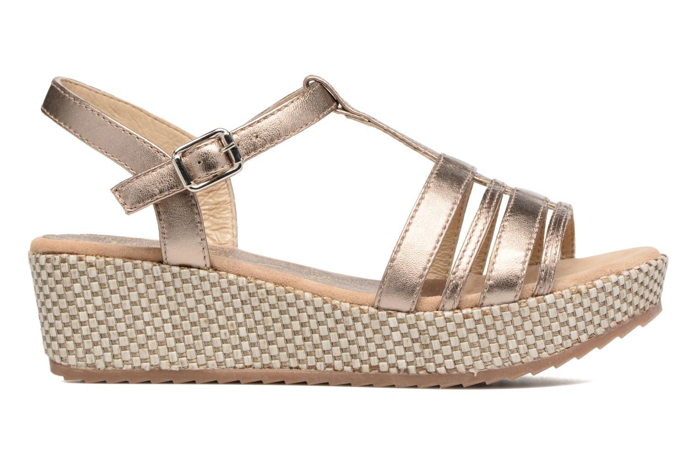 Sandales et nu-pieds Unisa Ticor Or et bronze vue derrière