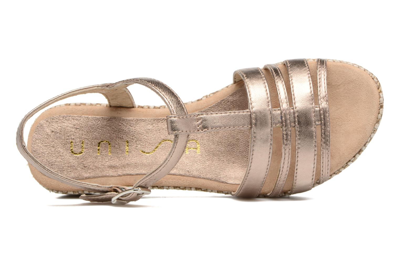 Sandalen Unisa Ticor gold/bronze ansicht von links