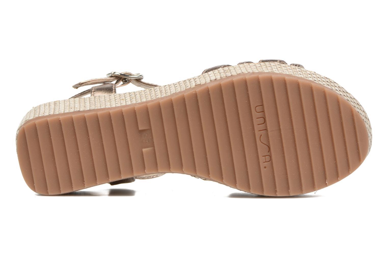 Sandales et nu-pieds Unisa Ticor Or et bronze vue haut