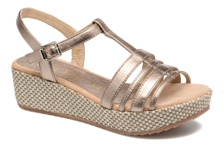 Sandales et nu-pieds Unisa Ticor Or et bronze vue détail/paire