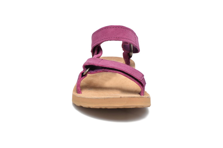 Sandales et nu-pieds Teva Original Universal Suede Violet vue portées chaussures