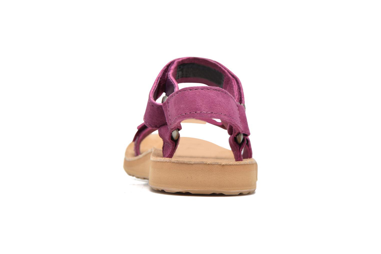Sandales et nu-pieds Teva Original Universal Suede Violet vue droite