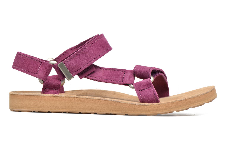 Sandales et nu-pieds Teva Original Universal Suede Violet vue derrière