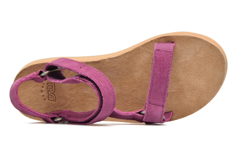 Sandales et nu-pieds Teva Original Universal Suede Violet vue gauche