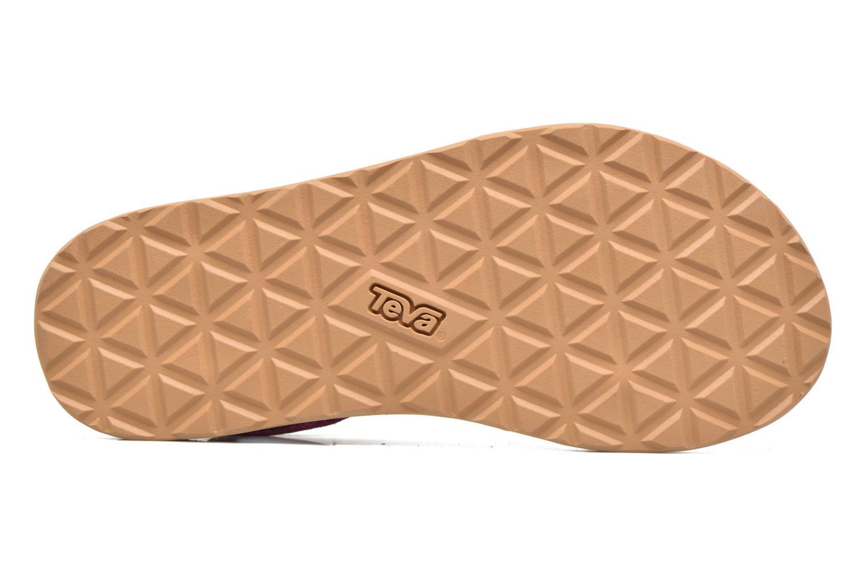 Sandales et nu-pieds Teva Original Universal Suede Violet vue haut