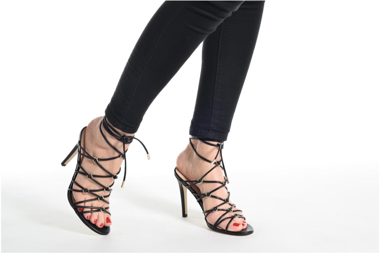 Sandales et nu-pieds Guess Aeyla Or et bronze vue bas / vue portée sac