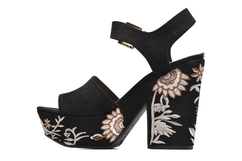 Sandali e scarpe aperte Guess Caralin2 Nero immagine frontale