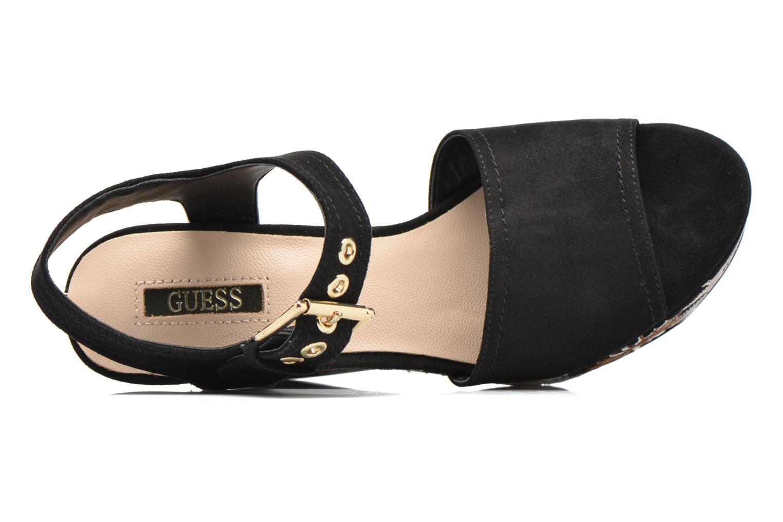 Sandali e scarpe aperte Guess Caralin2 Nero immagine sinistra