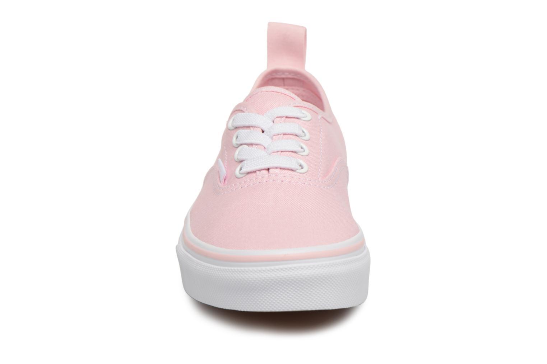Baskets Vans Authentic Elastic Lace Rose vue portées chaussures