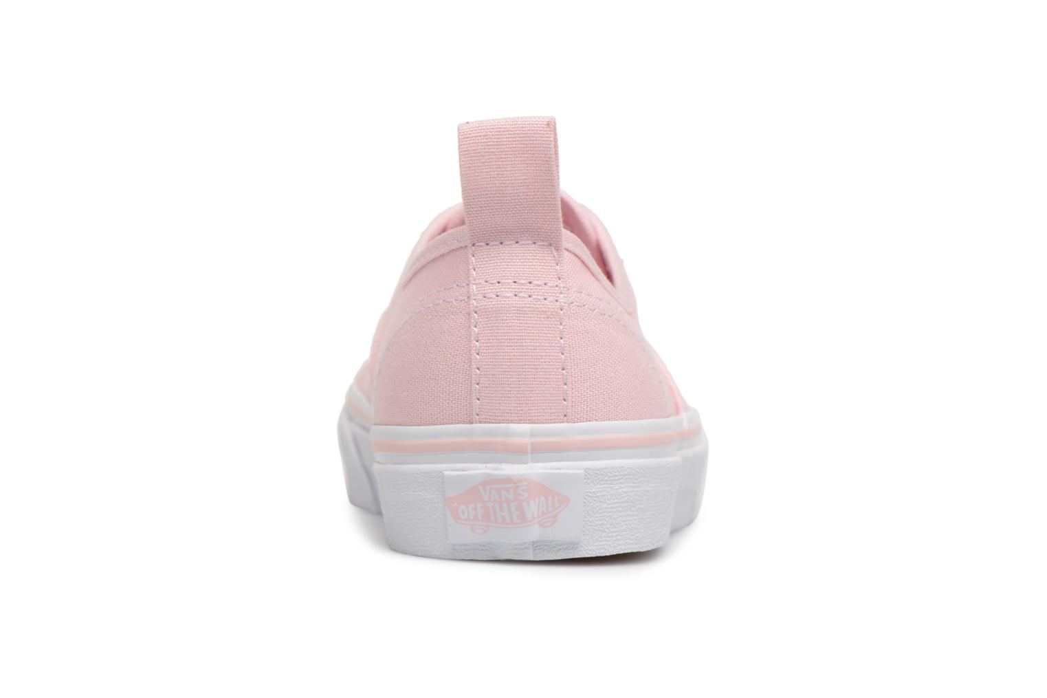 Deportivas Vans Authentic Elastic Lace Rosa vista lateral derecha