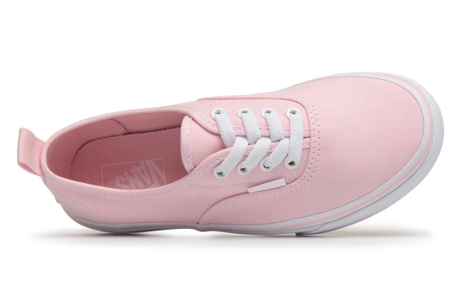 Baskets Vans Authentic Elastic Lace Rose vue gauche