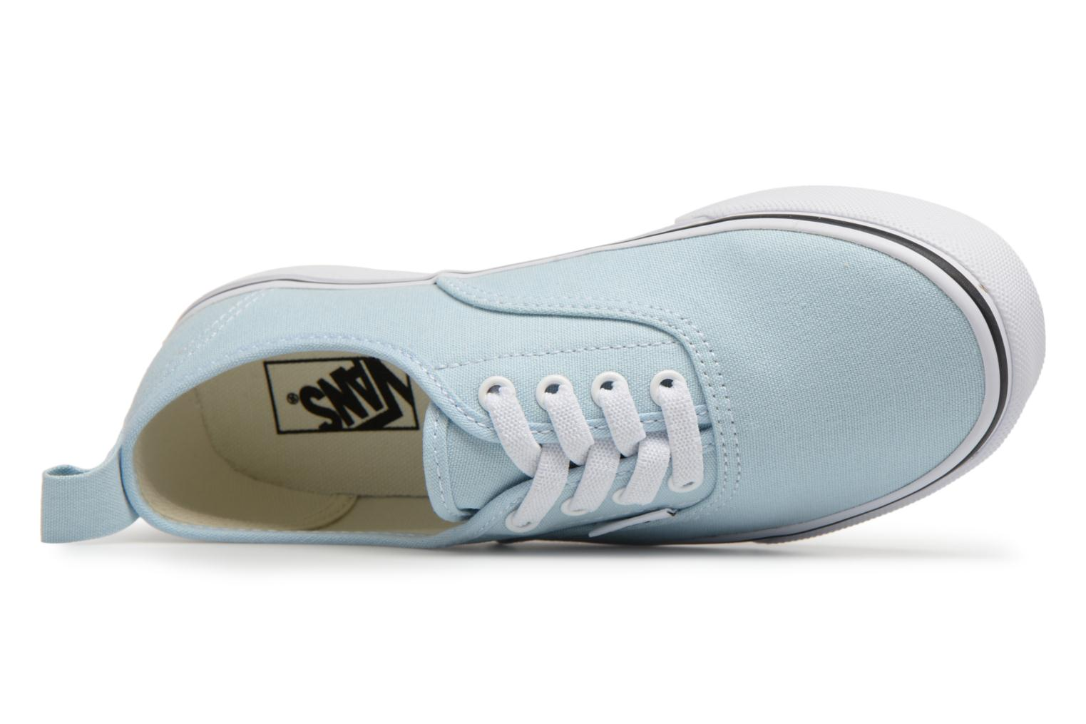 Baby Blue/True White Vans Authentic Elastic Lace (Bleu)