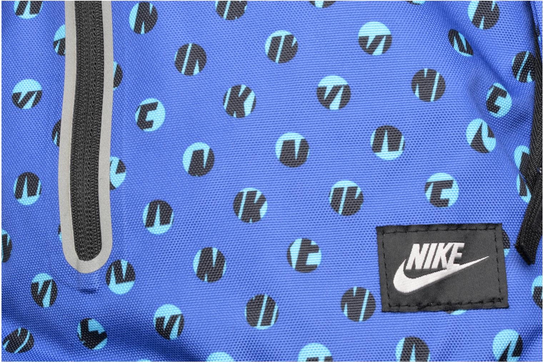 Rucksacks Nike Kid's Nike Cheyenne Print Backpack Blue view from the left