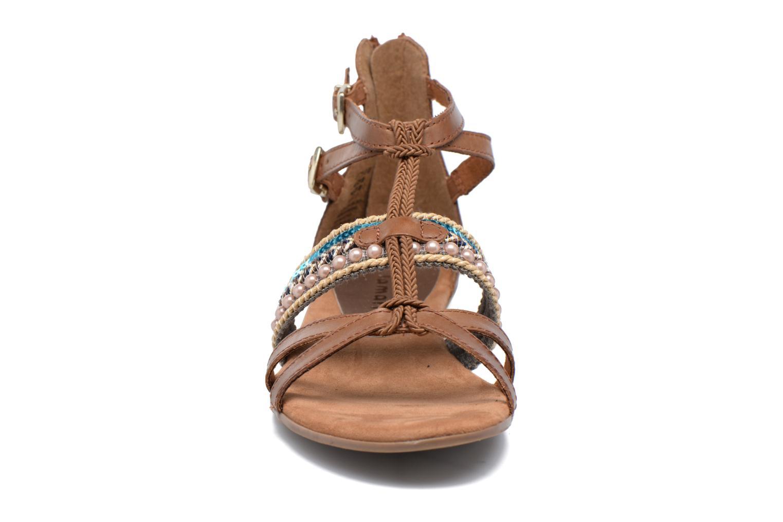 Sandales et nu-pieds Tamaris Episcia Marron vue portées chaussures