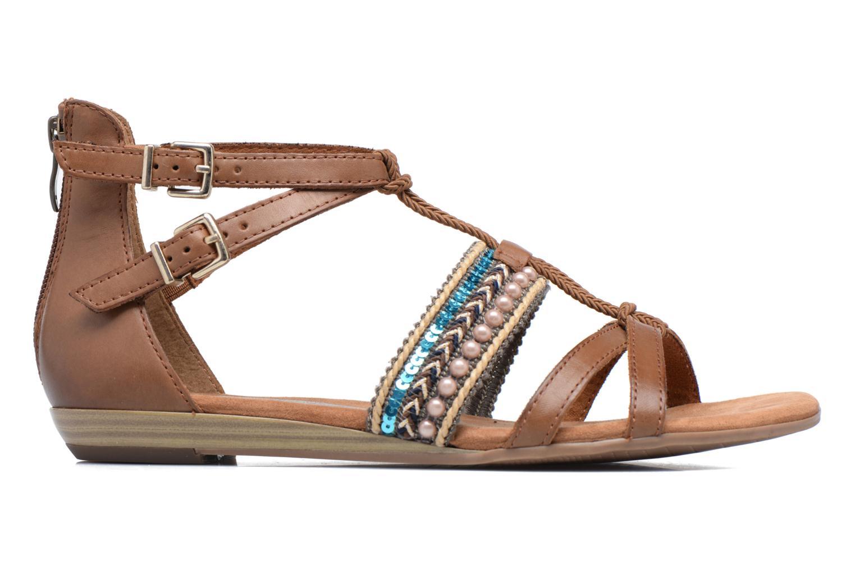 Sandales et nu-pieds Tamaris Episcia Marron vue derrière
