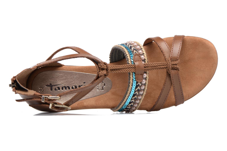 Sandales et nu-pieds Tamaris Episcia Marron vue gauche