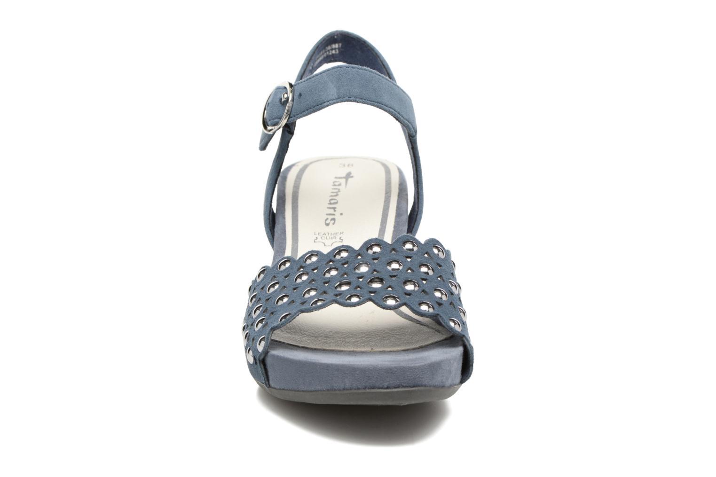 Sandales et nu-pieds Tamaris Olearia Bleu vue portées chaussures