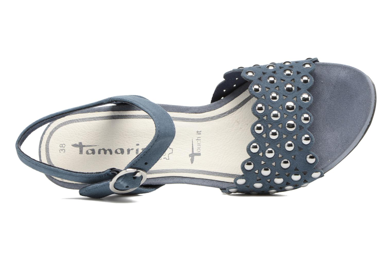 Sandales et nu-pieds Tamaris Olearia Bleu vue gauche