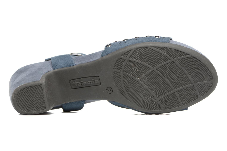 Sandales et nu-pieds Tamaris Olearia Bleu vue haut