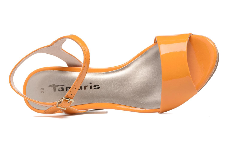 Sandals Tamaris Pellaea Orange view from the left