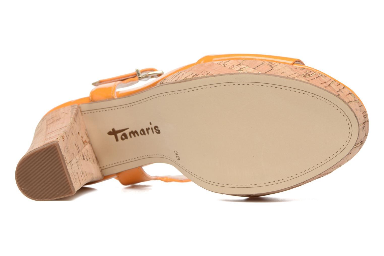 Sandals Tamaris Pellaea Orange view from above