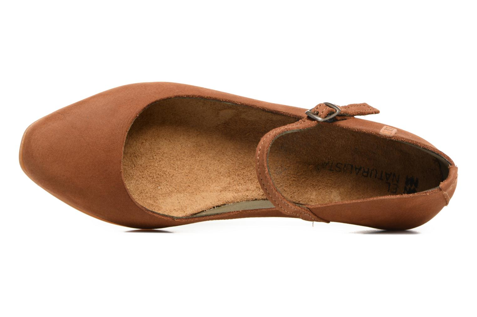 Ballet pumps El Naturalista Stella ND58 Brown view from the left