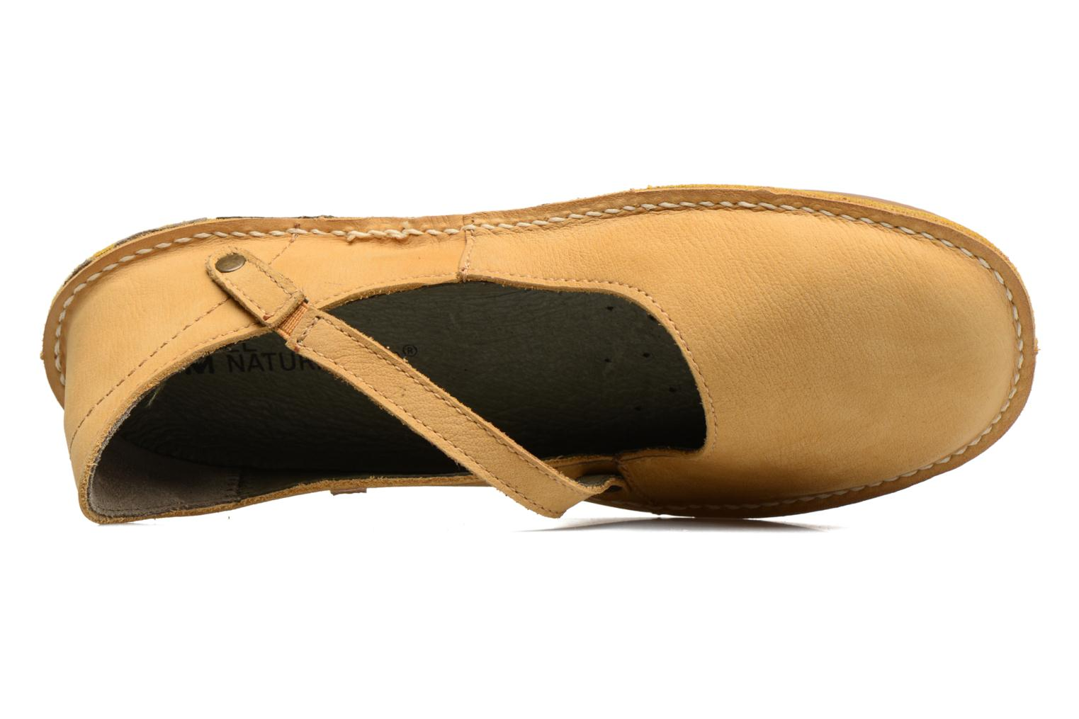 Ballet pumps El Naturalista Formentera NF15 Yellow view from the left