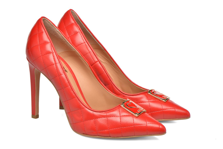 Escarpins Love Moschino Sperquilted Pump Rouge vue 3/4
