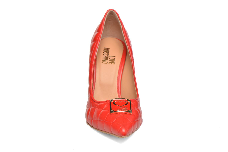 Escarpins Love Moschino Sperquilted Pump Rouge vue portées chaussures