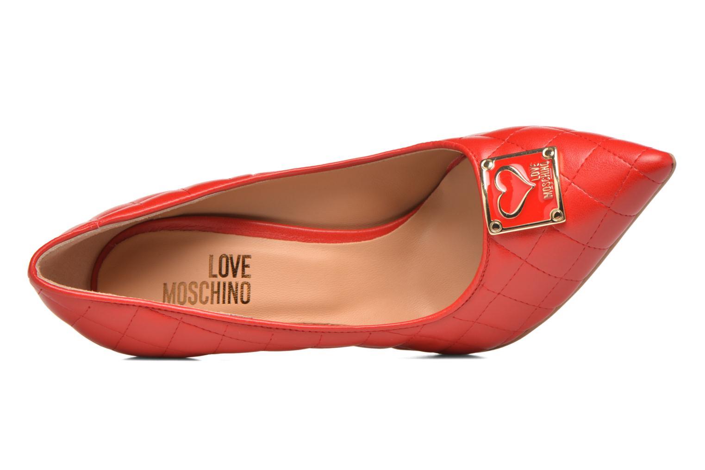 Escarpins Love Moschino Sperquilted Pump Rouge vue gauche