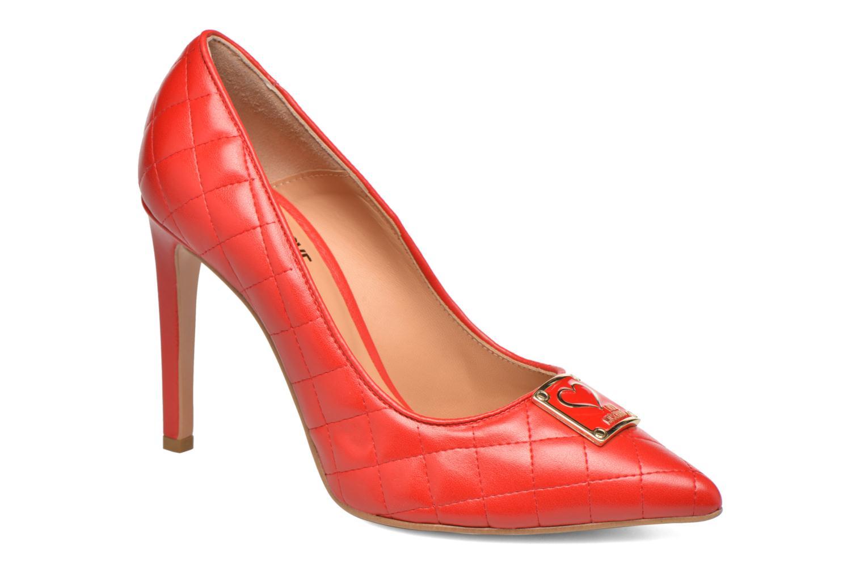 Escarpins Love Moschino Sperquilted Pump Rouge vue détail/paire