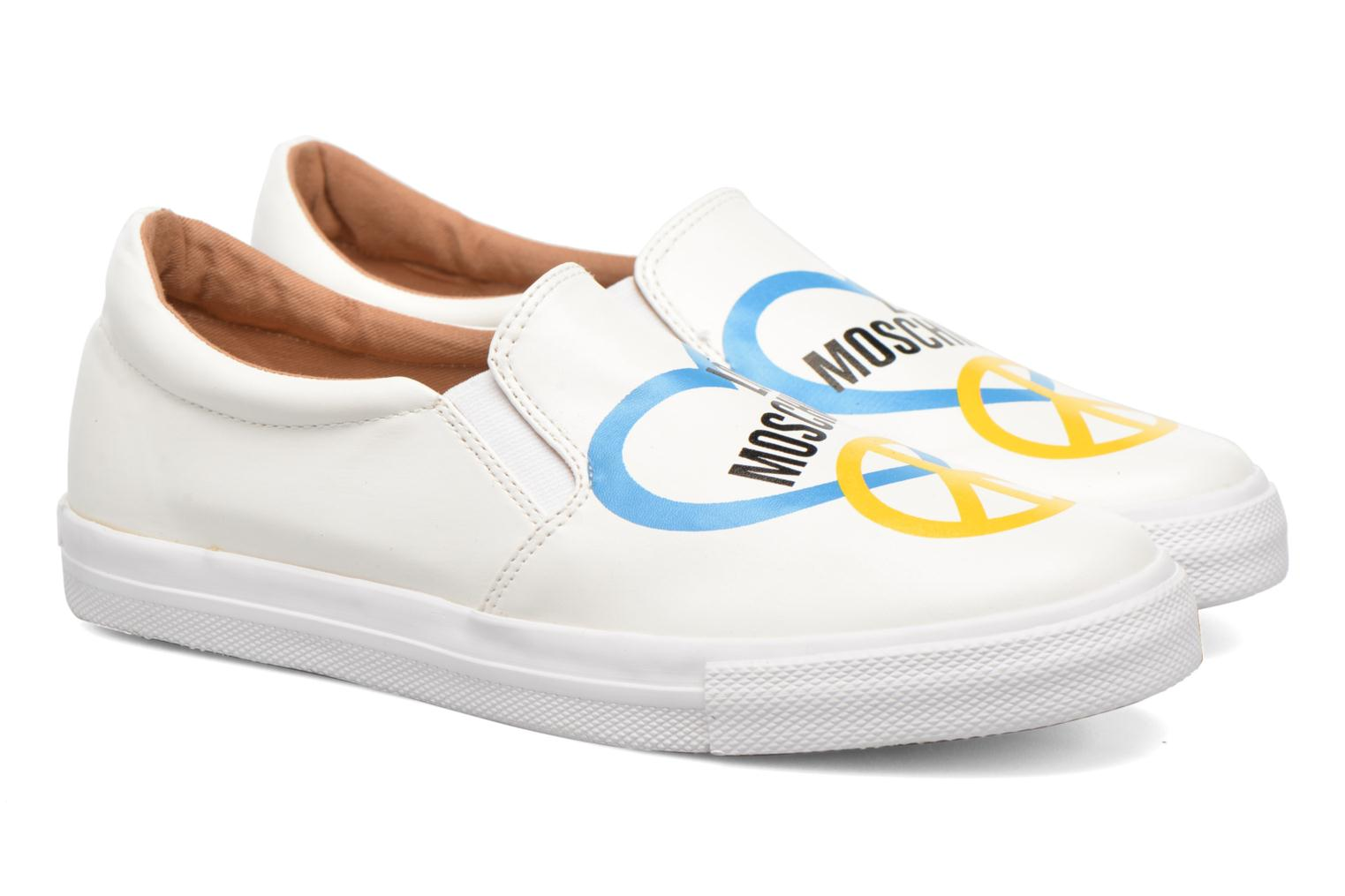 Sneakers Love Moschino Cut Out Slip-On Wit 3/4'