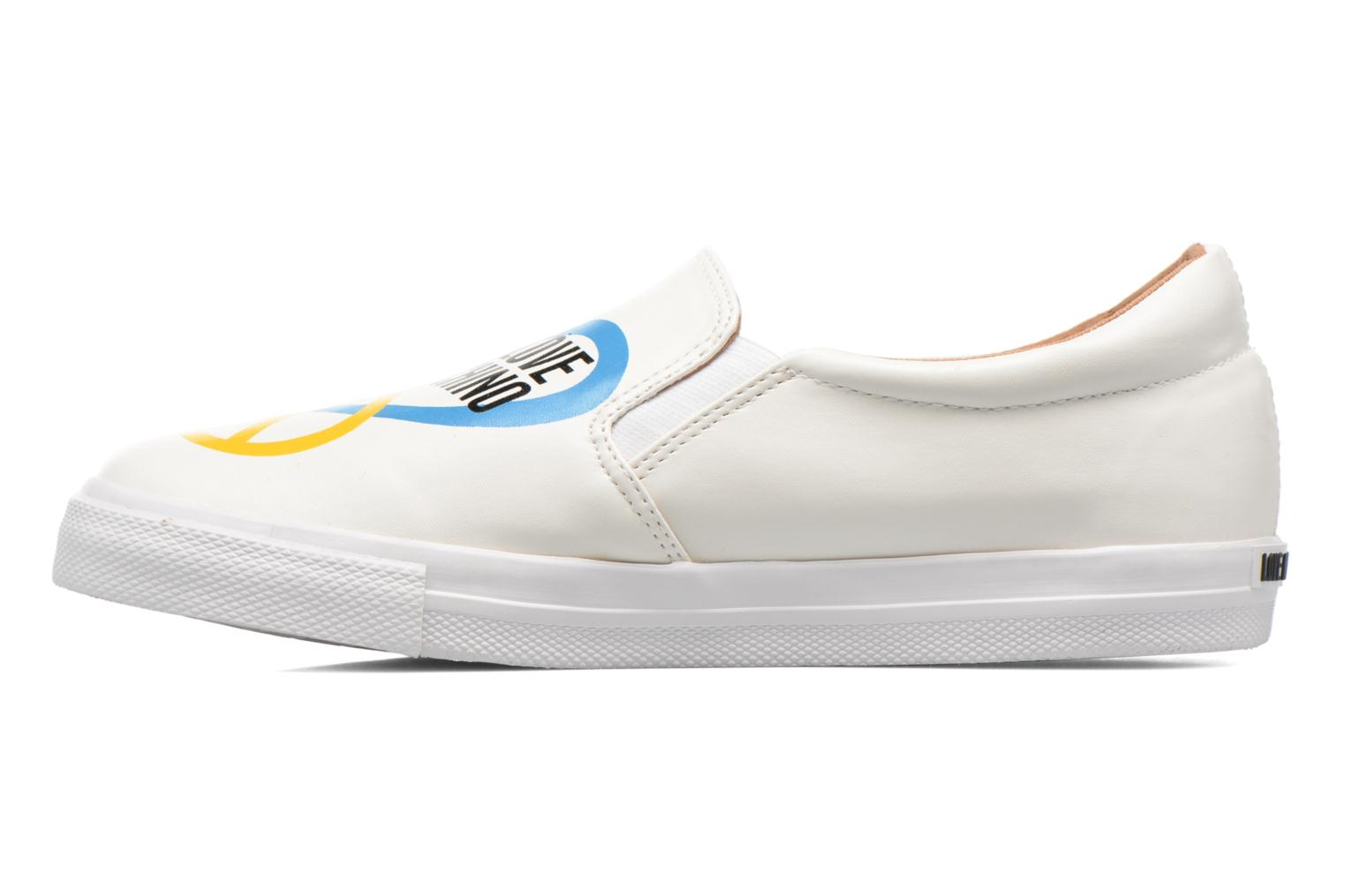 Sneakers Love Moschino Cut Out Slip-On Wit voorkant