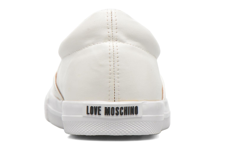Deportivas Love Moschino Cut Out Slip-On Blanco vista lateral derecha