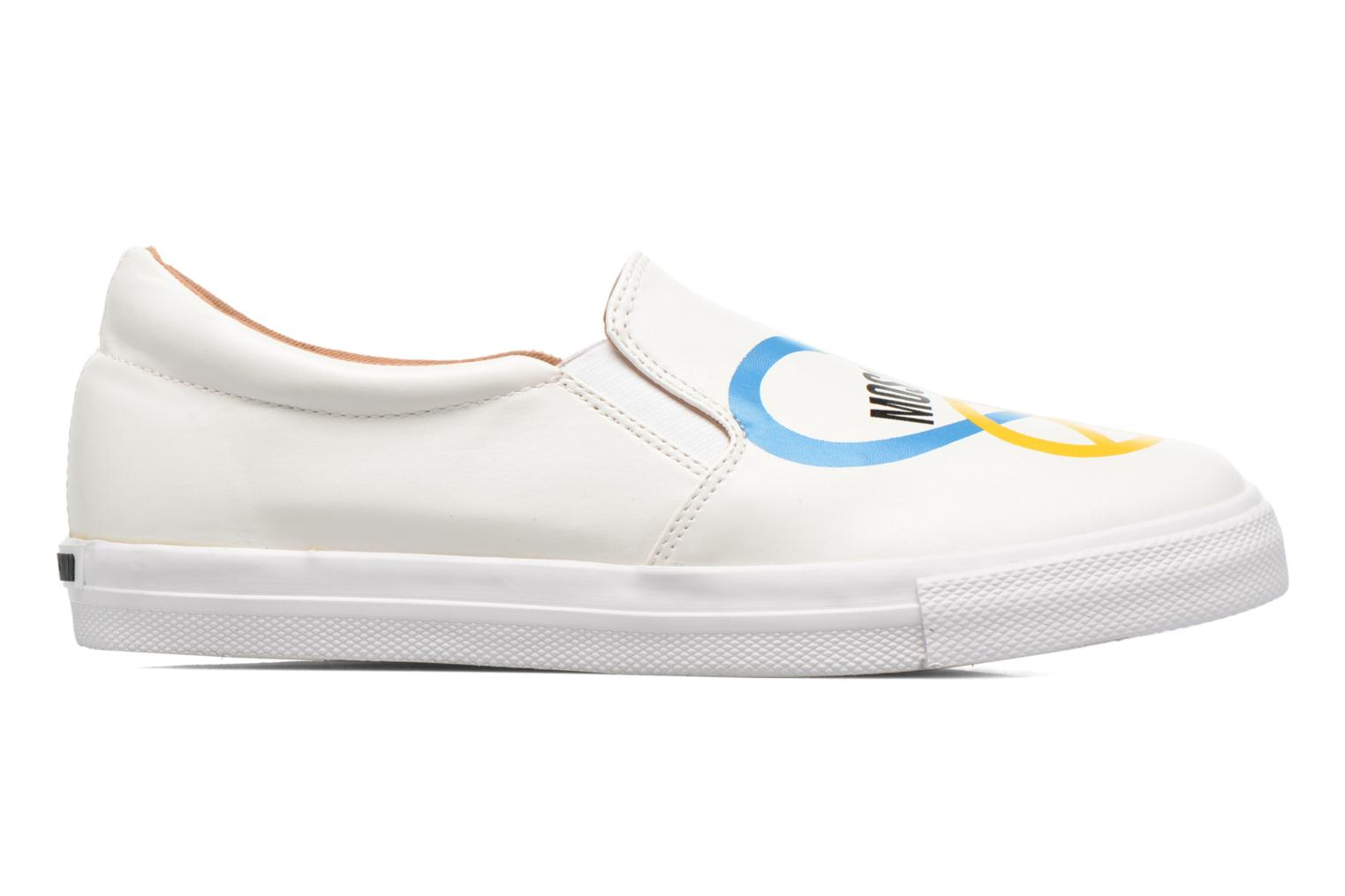 Sneakers Love Moschino Cut Out Slip-On Wit achterkant