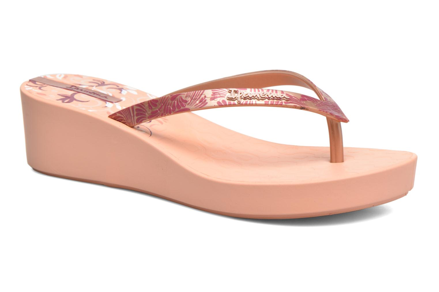 Flip flops Ipanema Art Deco III Pink detailed view/ Pair view