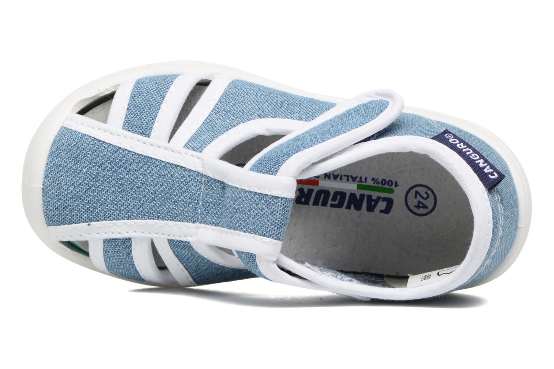 Sandales et nu-pieds Canguro New Born Lola Bleu vue gauche