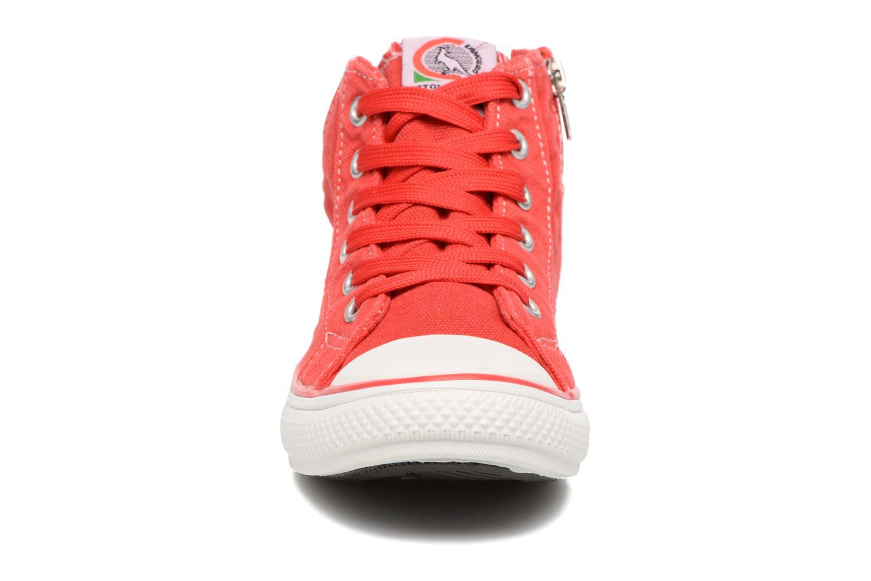 Baskets Canguro Midcut Shoes Tom Rouge vue portées chaussures