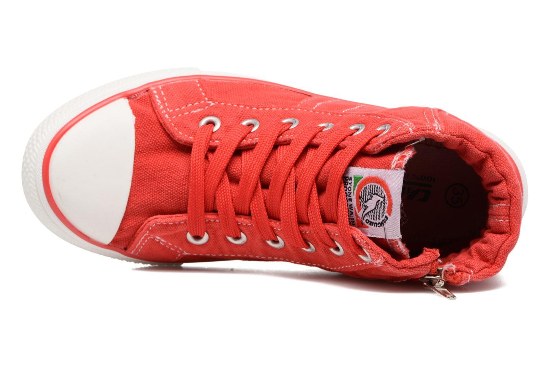 Baskets Canguro Midcut Shoes Tom Rouge vue gauche