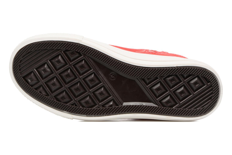 Baskets Canguro Midcut Shoes Tom Rouge vue haut