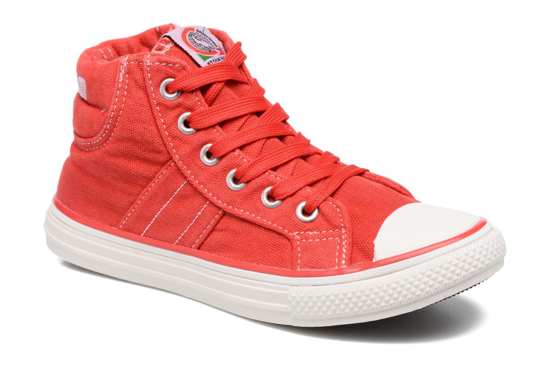 Baskets Canguro Midcut Shoes Tom Rouge vue détail/paire