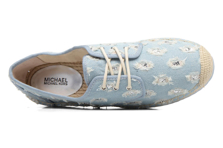 Espadrilles Michael Michael Kors Hastings Lace Up Bleu vue gauche